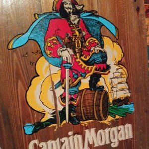 Captain Morgan Large Wooden Sign